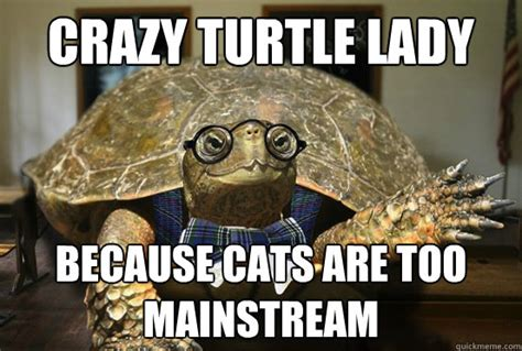 Turtle Meme - crazy turtle lady