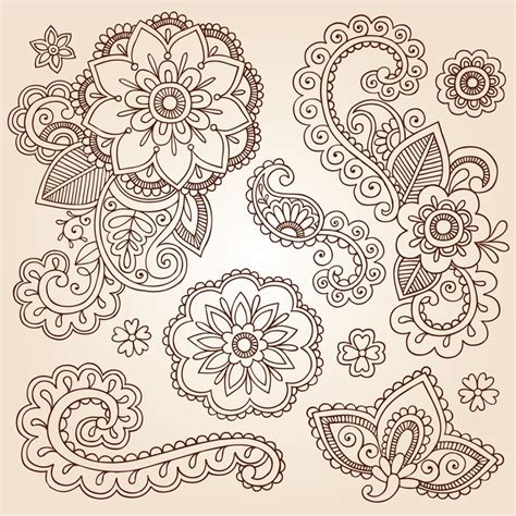design elements of a tattoo fotomural henna paisley mandala tattoo design elements