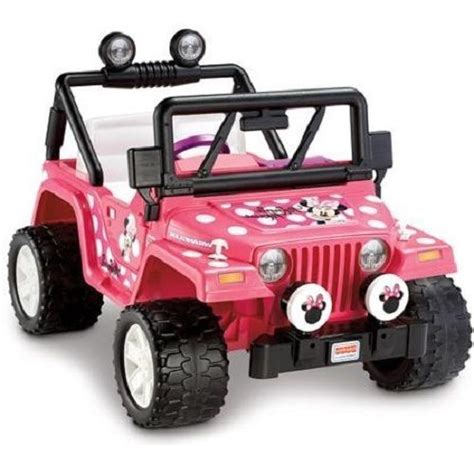 jeep power wheels for girls minnie mouse jeep girls kids pink 12v battery powered ride