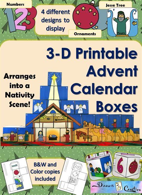 printable advent calendar boxes 3 d printable advent calendar boxes drawn2bcreative