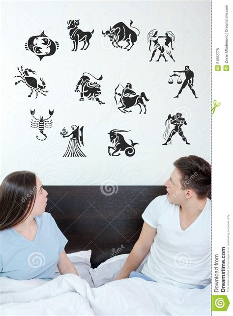 cancer men in the bedroom man and surprised woman in bedroom surrounded looking up