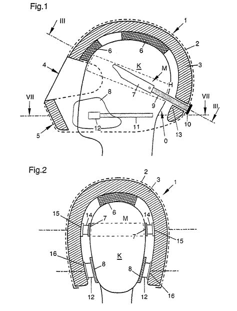 Motorradhelm Querschnitt by Patent Ep1026968b1 Safety Helmet With A Dimensionally