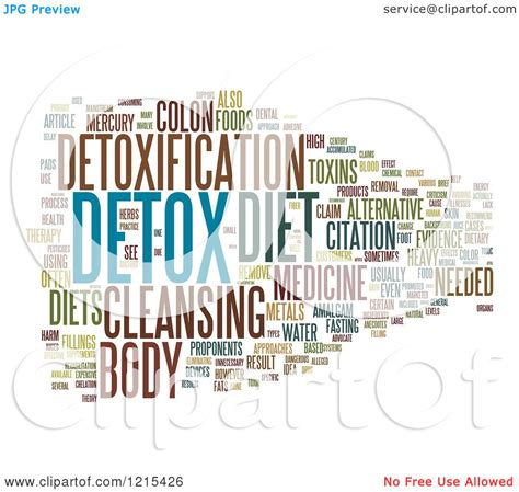 Laws In Nh Requarding Detox At Hospital by Clipart Of A Detox Word Collage Royalty Free