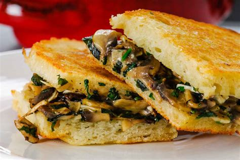 grilled mushroom sandwich recipe with herbs by archana s