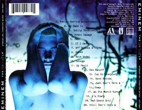 eminem the slim shady lp frontal copertina cd eminem the slim shady lp back cover cd