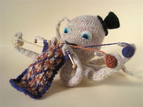 knitted octopus knitting octopus