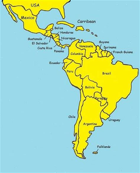 south america map and central america 302 found