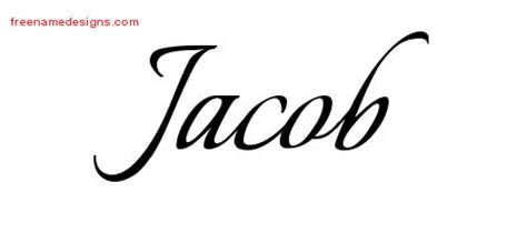 tattoo lettering for jacob jacob archives free name designs