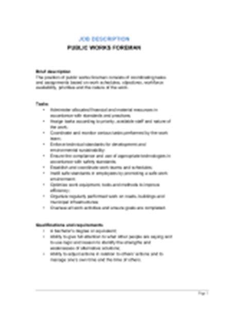 works manager description template sle form biztree