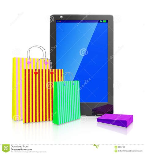 How To Make A Paper Touch Screen Phone - touch screen smart phone with shopping bags stock