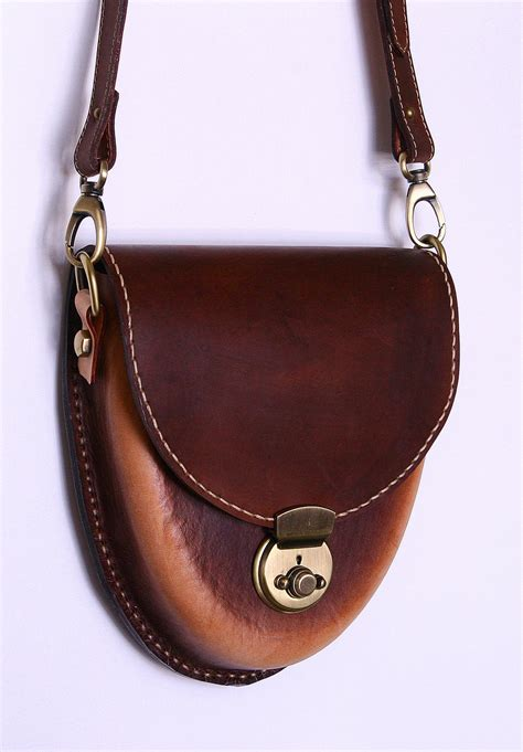 Handcrafted Leather Bag - handmade leather bag acorn model by jeanraval on deviantart