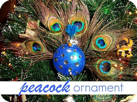 peacock ornament diy pinterest
