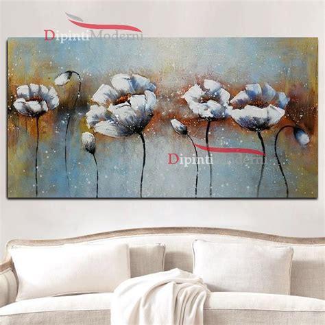 quadri moderni fiori su tela dipinti su tela fiori astratti bianchi dipinti moderni
