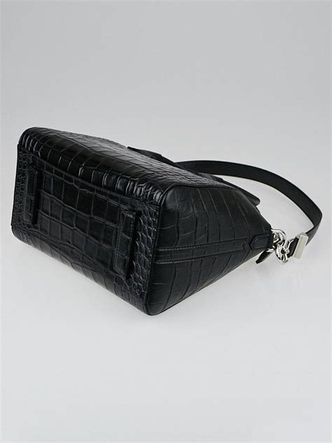 New Tas Givenchy Antigona Bag Leather Like Ori givenchy black crocodile sted leather small antigona bag yoogi s closet