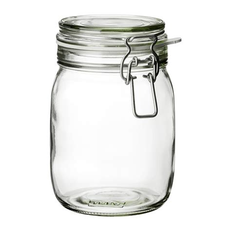 Clear Glass Canisters For Kitchen airtight glass jars with lids