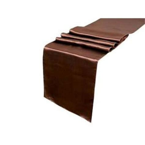 Table Runner Brown satin table runner chocolate brown 402310