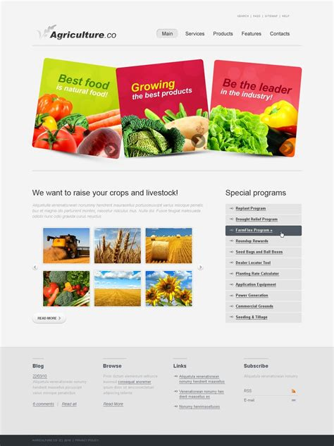 templates for agriculture website agriculture website template 30585