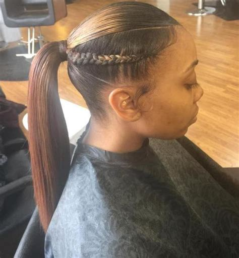Weave Ponytail Hairstyles For Americans by Braided Ponytail Hairstyles 40 Ponytails With Braids
