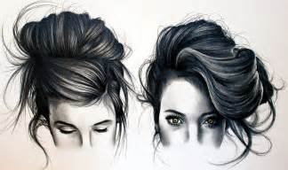 pencil drawing of hair styles of how to draw tumblr black hair youtube