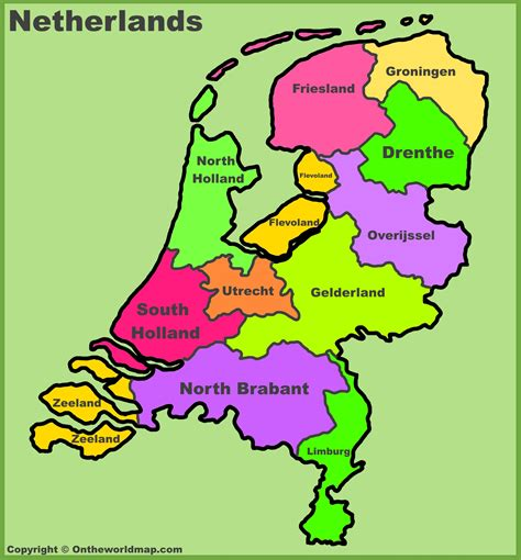 province map netherlands provinces gallery