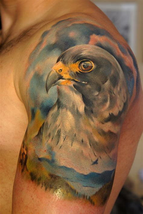 peregrine falcon tattoo by grimmy3d on deviantart