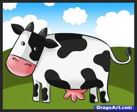 how to a cow how to draw a simple cow step by step farm animals animals free drawing