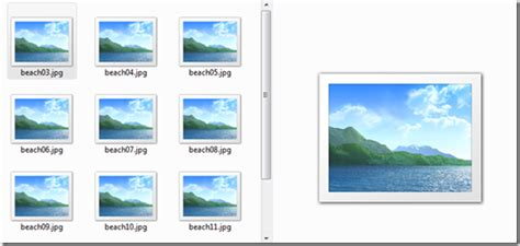 tips of using windows 7 image preview pane and folder