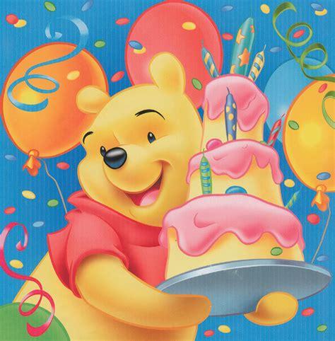 Kartu Ucapan Kecil Motif Kartun Small Card Birthday Card Hpa050 winnie the pooh birthday pieces supplied by izzys shop
