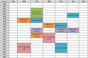 Weekly College Schedule Template by Pin Weekly College Class Schedule Template On