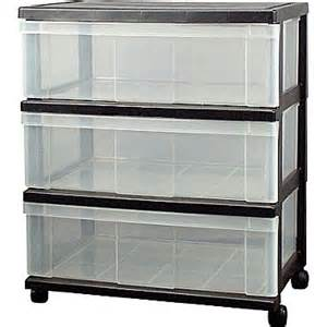 Dry Food Storage Container - staples 174 3 drawer wide organizer with plastic top staples 174