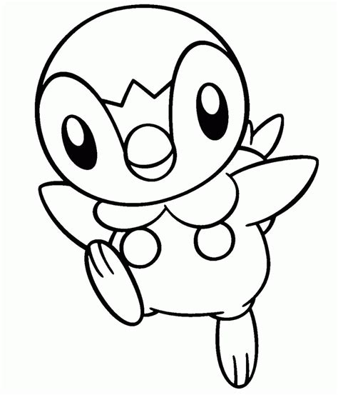 pokemon coloring pages of piplup piplup coloring page az coloring pages