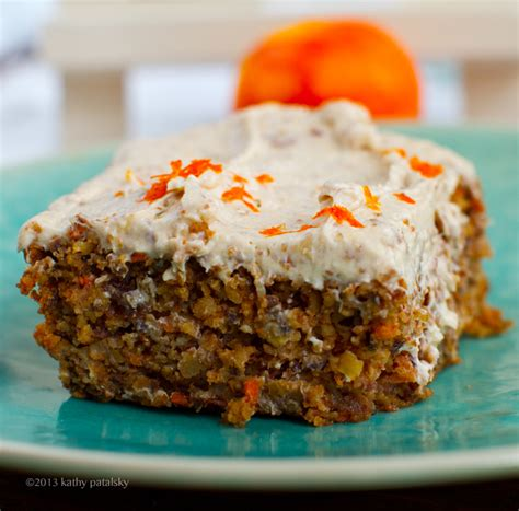 vegan carrot cake with cheese frosting healthy dessert