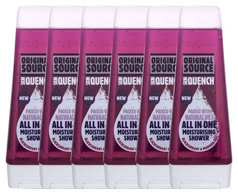Moringa Shower Gel 250ml 6 x original source moisturising shower gel blackcurrant