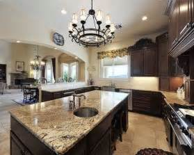 dark kitchen cabinets brown granite i want to try this