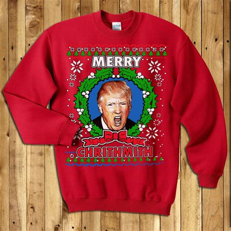 donald trump xmas sweater donald trump ugly christmas sweaters chrithmith