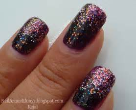 nailart and things classy glitter gradient nail art