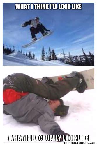 Snowboarding Memes - snowboard fail