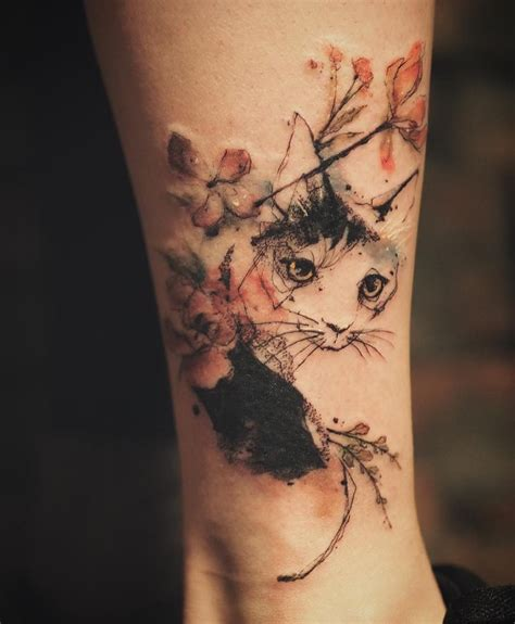 garden tattoo designs cat tattoos every cat design placement and style