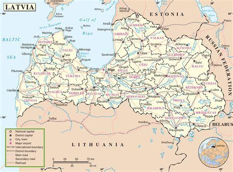 latvia on the world map latvia political map