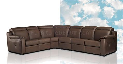 espresso leather sectional karina reclining sectional sofa in espresso full leather