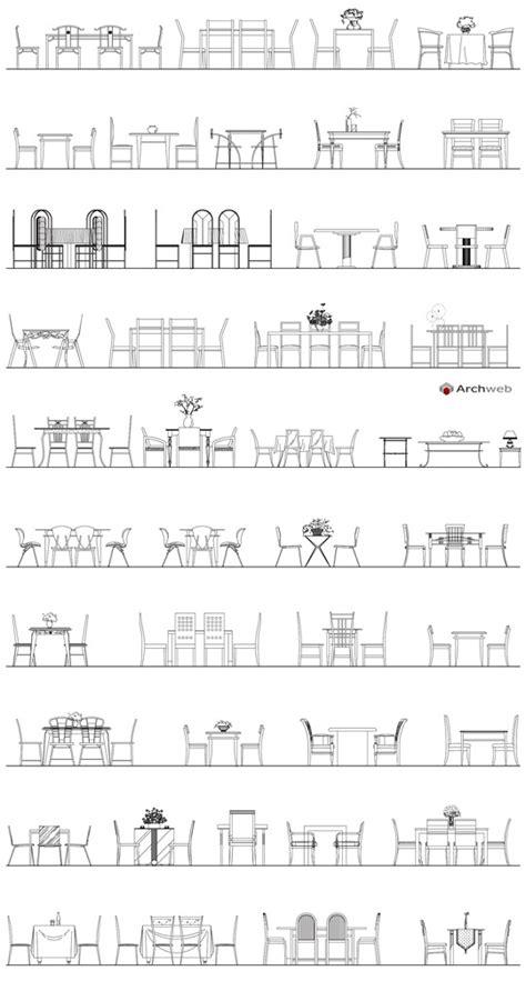 tavoli autocad tavoli in prospetto autocad dwg