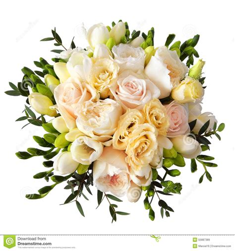 Flowpy Florist Simple 6 Roses Bouquet Multi Colour flower bouquet for the isolated on white stock