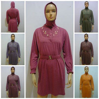 Atasan Hitam Polos Lengan Karet kaos muslimah grosir baju muslim murah
