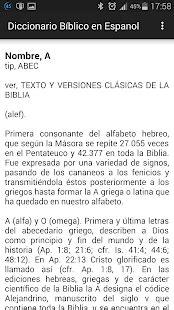 Diccionario Bíblico en Español - Android Apps on Google Play