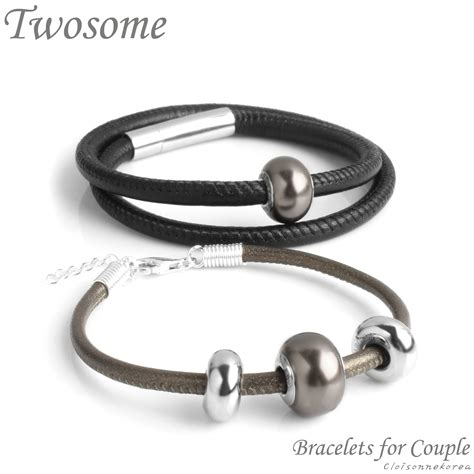 Swarovski Leather bracelet swarovski leather for twosome 2602b