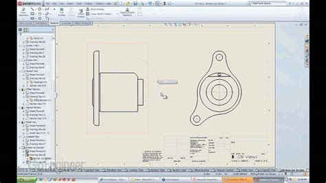 solidworks section view solidworks broken out section views youtube