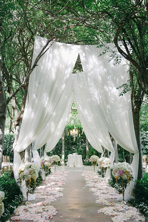 Wedding Aisle Ideas by 25 Brilliant Garden Wedding Decoration Ideas For 2018