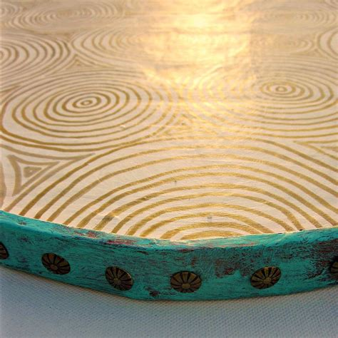 Handmade Tray Decoration - handmade decorative paper mache ottoman tray clouds