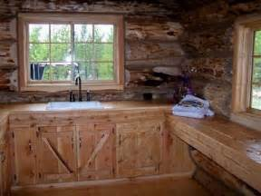 shopping for the right rustic kitchen cabinets for a log