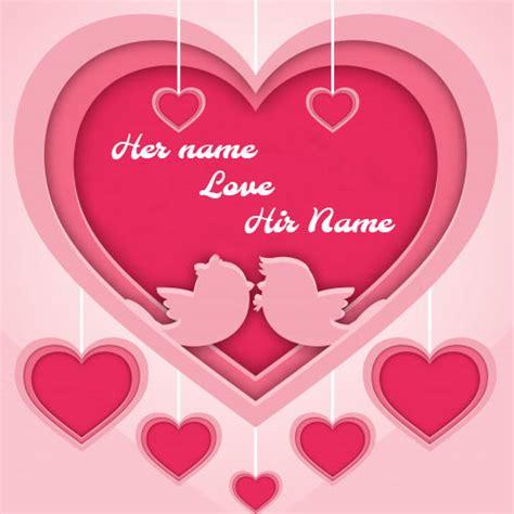 beautiful pink romantic heart love card